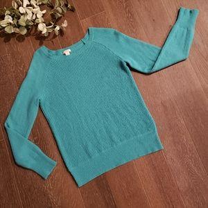 J. Crew Wool Blend Waffle Print Sweater Medium